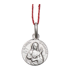 Rhodium plated medal with St. Lucia Goretti 10 mm s1