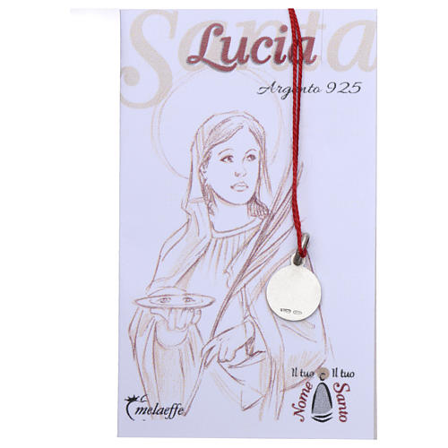 Rhodium plated medal with St. Lucia Goretti 10 mm 2