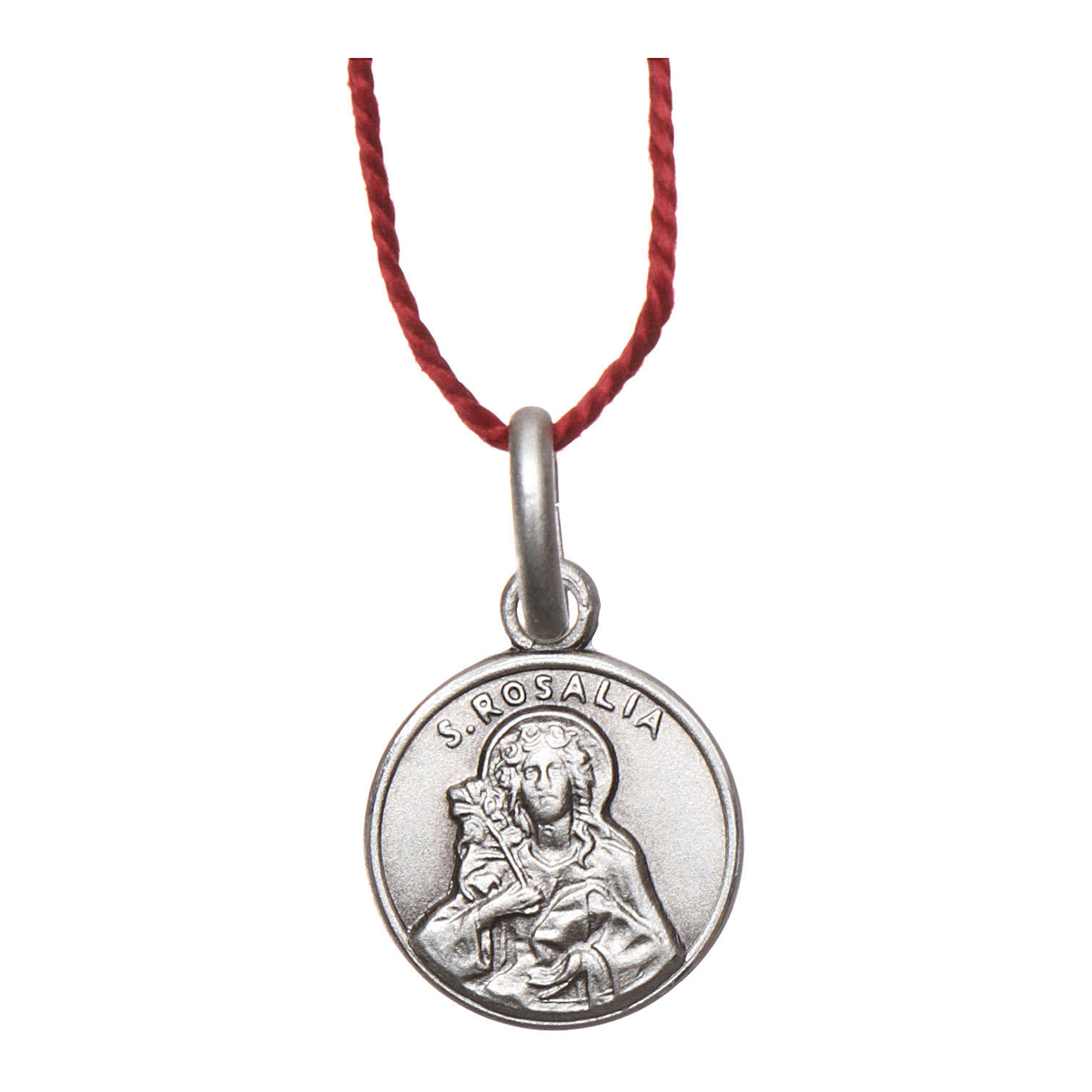 Medalik Święta Rozalia srebro 925 rodowane 10 mm 4