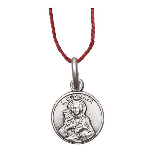 Medalik Święta Rozalia srebro 925 rodowane 10 mm 1