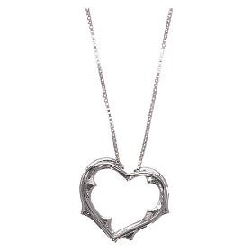 Collana AMEN cuore con zirconi bianchi argento 925 rodiato s2
