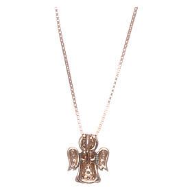 Collar AMEN ángel plata 925 rosada zircones blancos s2
