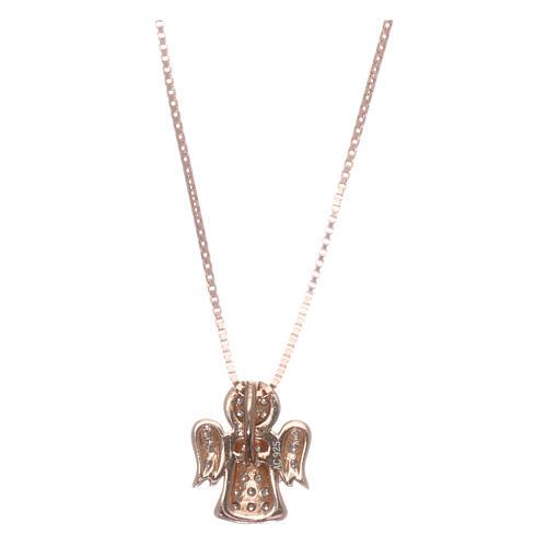 Collar AMEN ángel plata 925 rosada zircones blancos 2