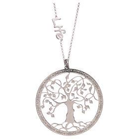 Collana AMEN arg 925 finitura rodiata albero della vita  s2