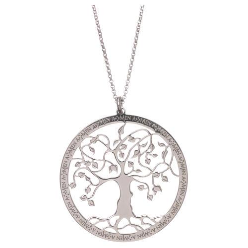 Collana AMEN arg 925 finitura rodiata albero della vita  1