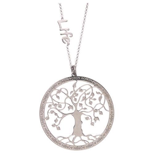 Collana AMEN arg 925 finitura rodiata albero della vita  2
