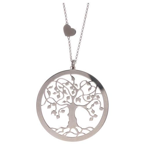 Collana AMEN arg 925 finitura rodiata albero della vita  3