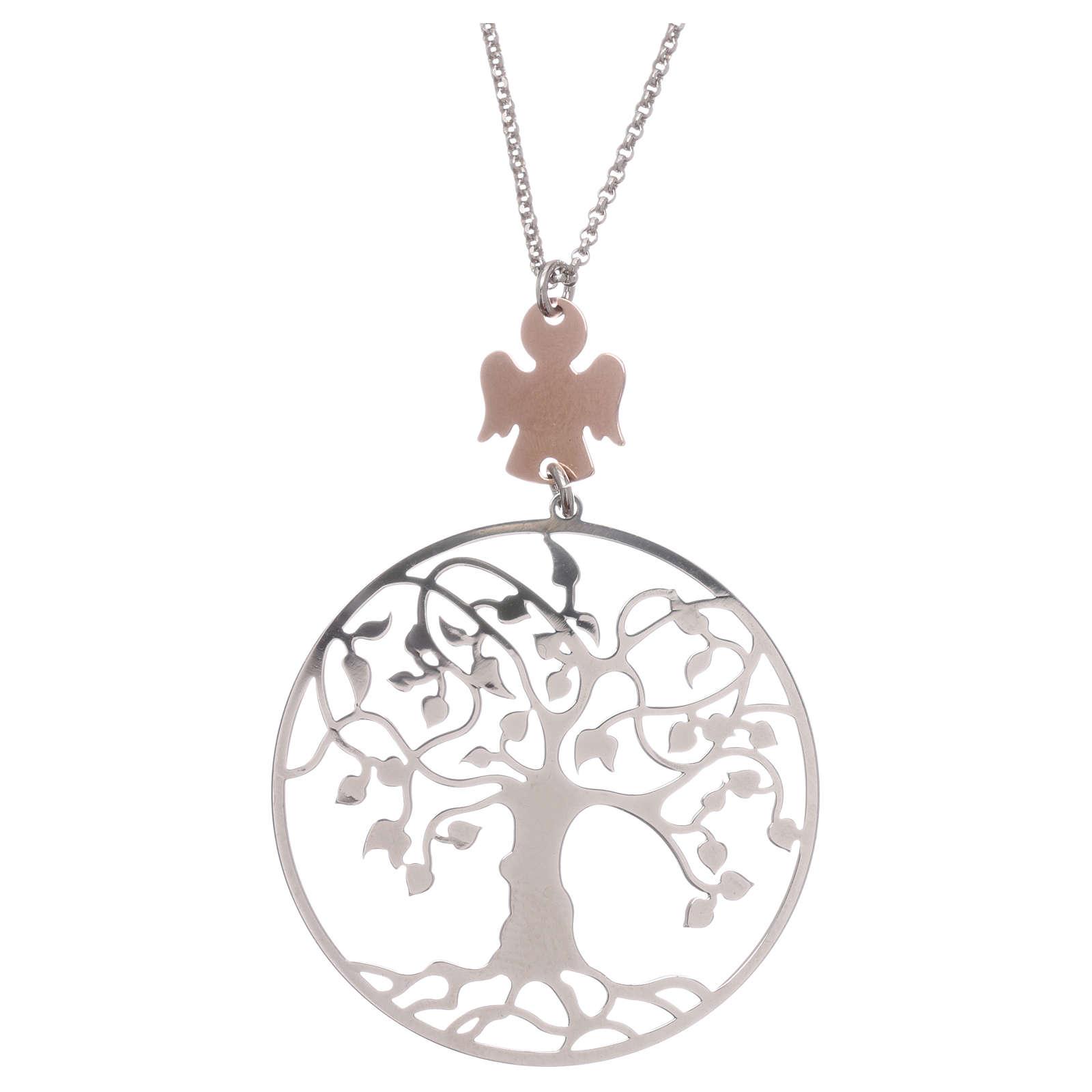 Collana AMEN arg 925 rodiato/rosé angelo albero della vita  4