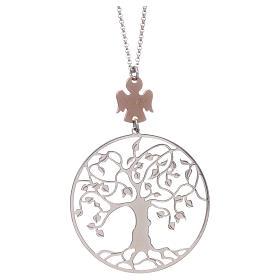 Collana AMEN arg 925 rodiato/rosé angelo albero della vita  s1
