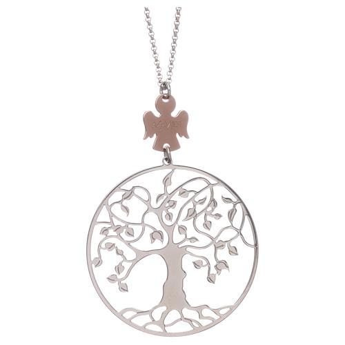 Collana AMEN arg 925 rodiato/rosé angelo albero della vita  1