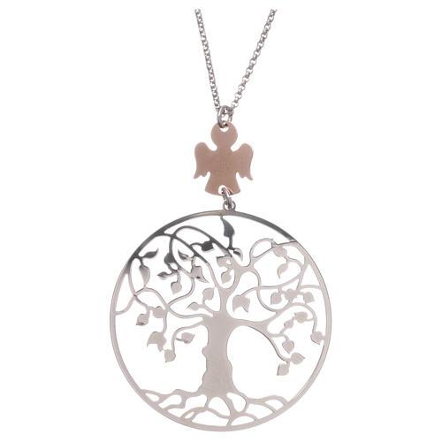 Collana AMEN arg 925 rodiato/rosé angelo albero della vita  2