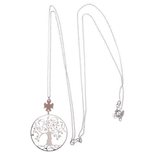 Collana AMEN arg 925 rodiato/rosé angelo albero della vita  3