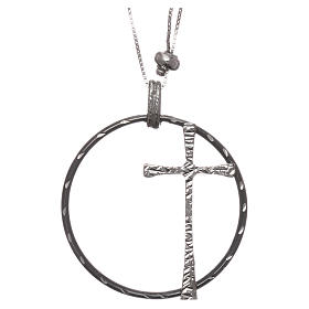 Pingentes, Cruzes, Broches, Correntes: Colar AMEN prata 925 rodiada corrente regulável