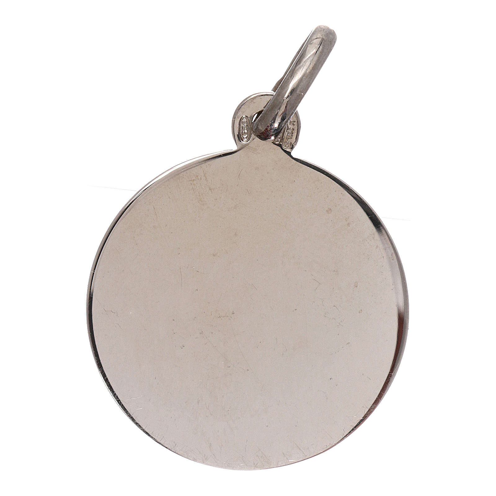 Medaglia San Michele Arcangelo argento 925 mis. 16 mm 4