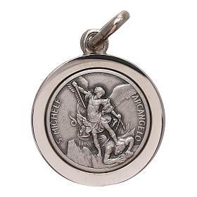 Medaglia San Michele Arcangelo argento 925 mis. 16 mm s1