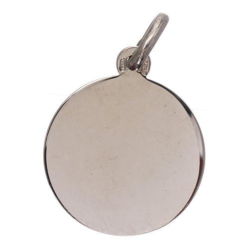 Medaglia San Michele Arcangelo argento 925 mis. 16 mm 2