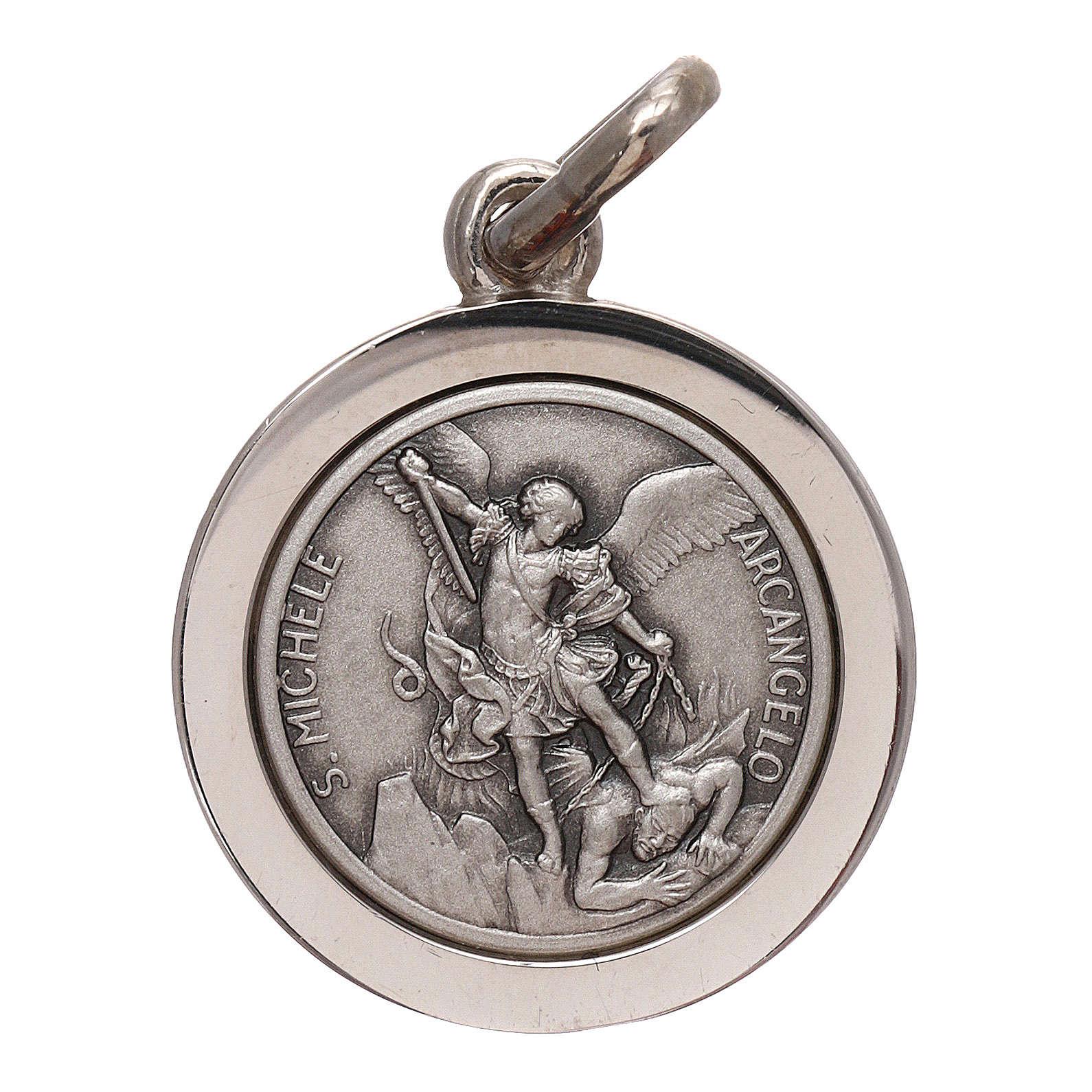 Medalik Święty Michał Archanioł srebro 925 średnica 16 mm 4