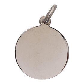 Medalha São Miguel Arcanjo prata 925 diâm. 16 mm