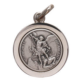 Medal of Saint Michael the Archangel, in 925 silver meas. 16 mm s1