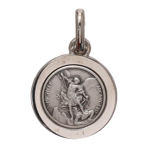 Médaille Saint Michel Archange argent 925 diam. 12 mm