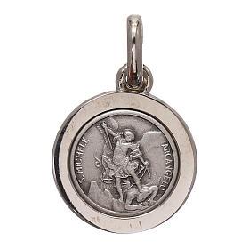 Medalha São Miguel Arcanjo prata 925 diâm. 12 mm