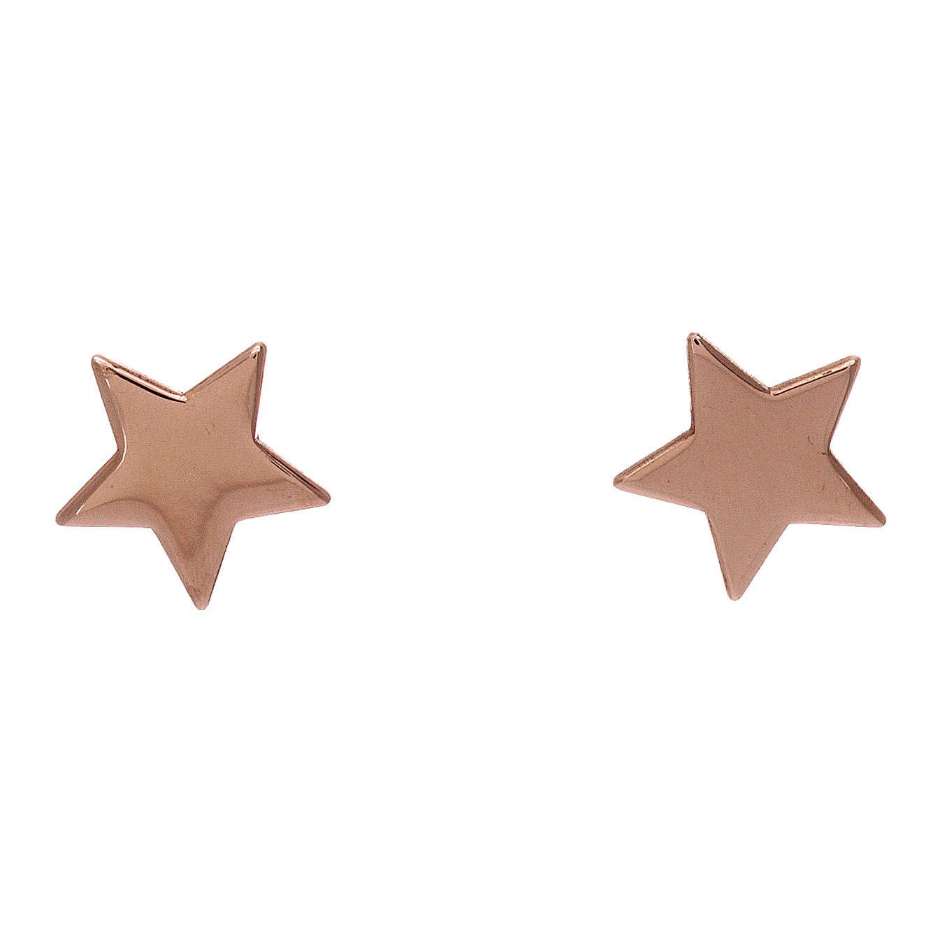 Orecchini stella AMEN argento 925 rosé 4