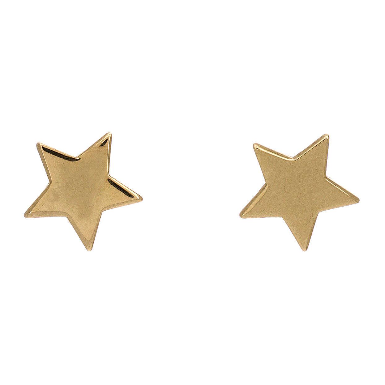 Orecchini forma stella argento 925 dorato AMEN 4