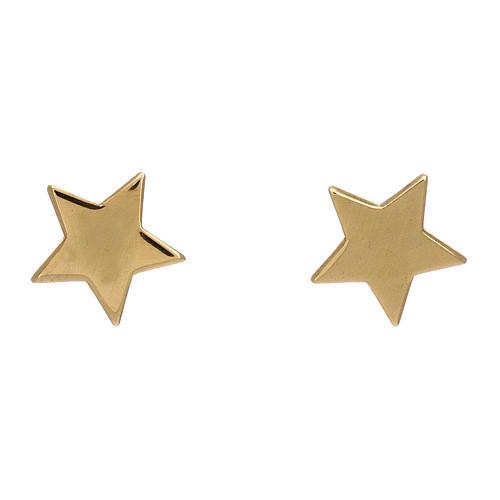 Orecchini forma stella argento 925 dorato AMEN 1