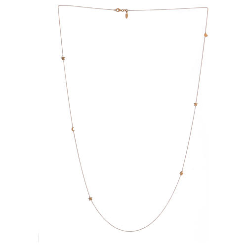 Necklace with moon and star AMEN 925 gold plated silver 1