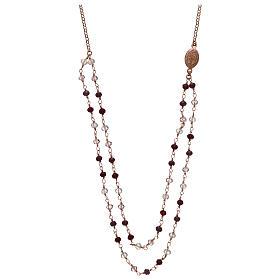 Collana AMEN argento 925 rosè con cristalli viola.  s2