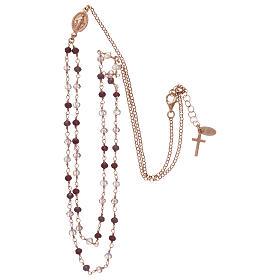 Collana AMEN argento 925 rosè con cristalli viola.  s3