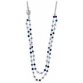 Pingentes, Cruzes, Broches, Correntes: Colar em prata 925 e cristais azuis escuros AMEN