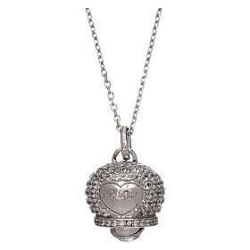 Collana in argento 925 ciondolo campanella con zirconi AMEN s1