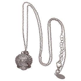 Collana in argento 925 ciondolo campanella con zirconi AMEN s3
