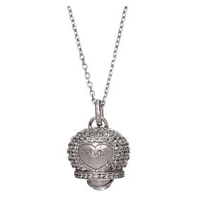 Pingentes, Cruzes, Broches, Correntes: Colar em prata 925 pingente sinal com zircões AMEN