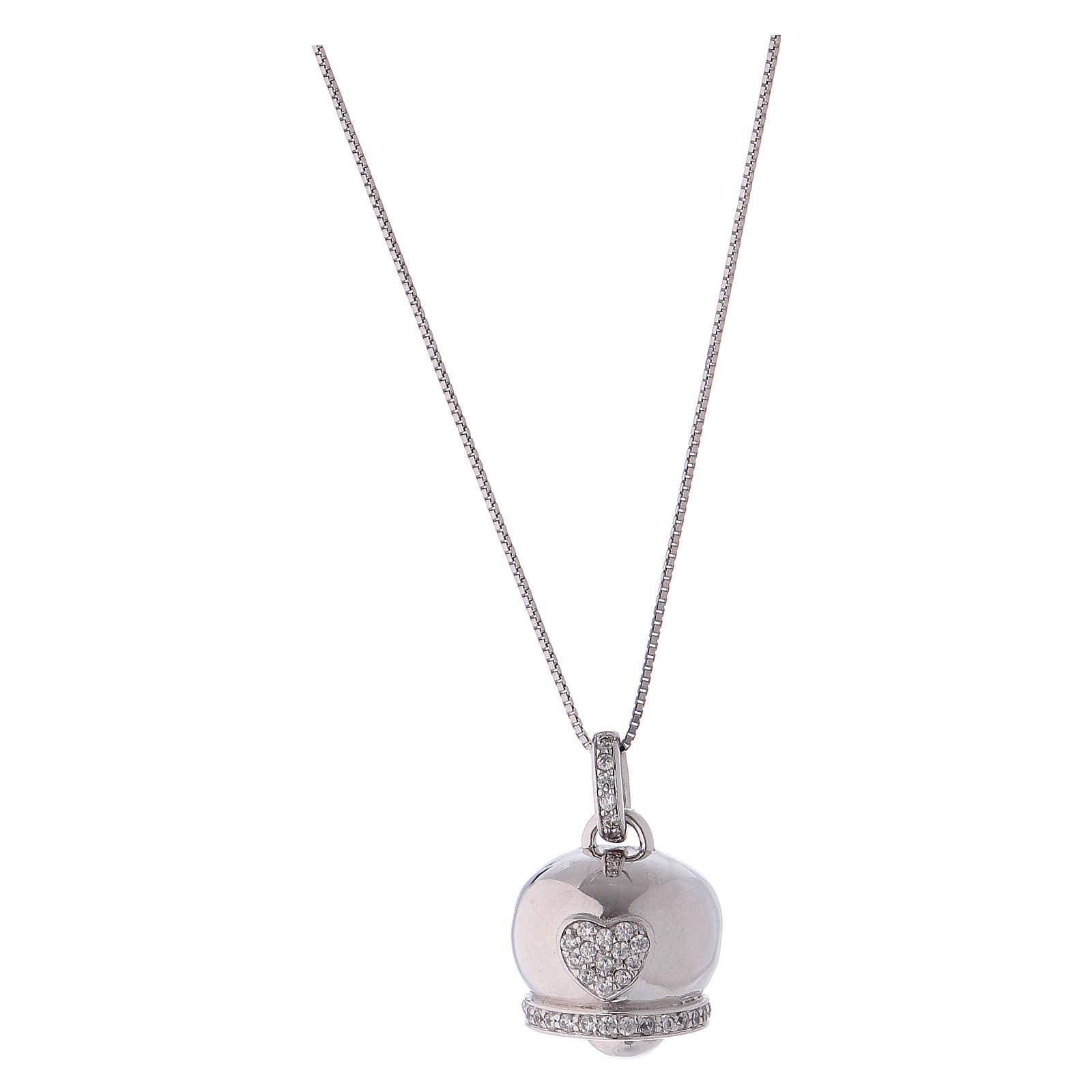 Collana in argento 925 ciondolo campanella AMEN 4