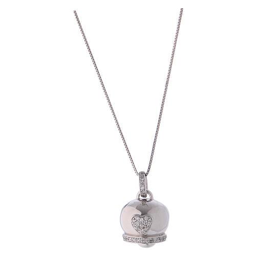 Collana in argento 925 ciondolo campanella AMEN 1