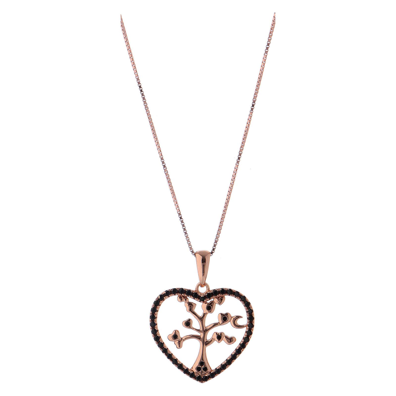 Collar árbol de la vida corazón AMEN plata 925 4