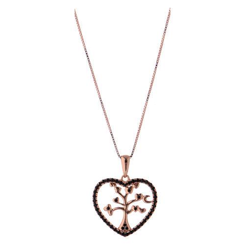 Collar árbol de la vida corazón AMEN plata 925 1