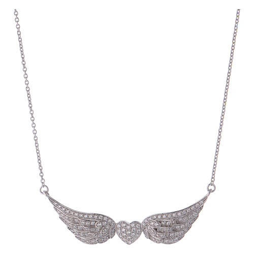 collier coeur aile