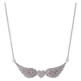 Collana AMEN cuore con ali argento 925 s1