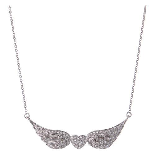 Collana AMEN cuore con ali argento 925 1