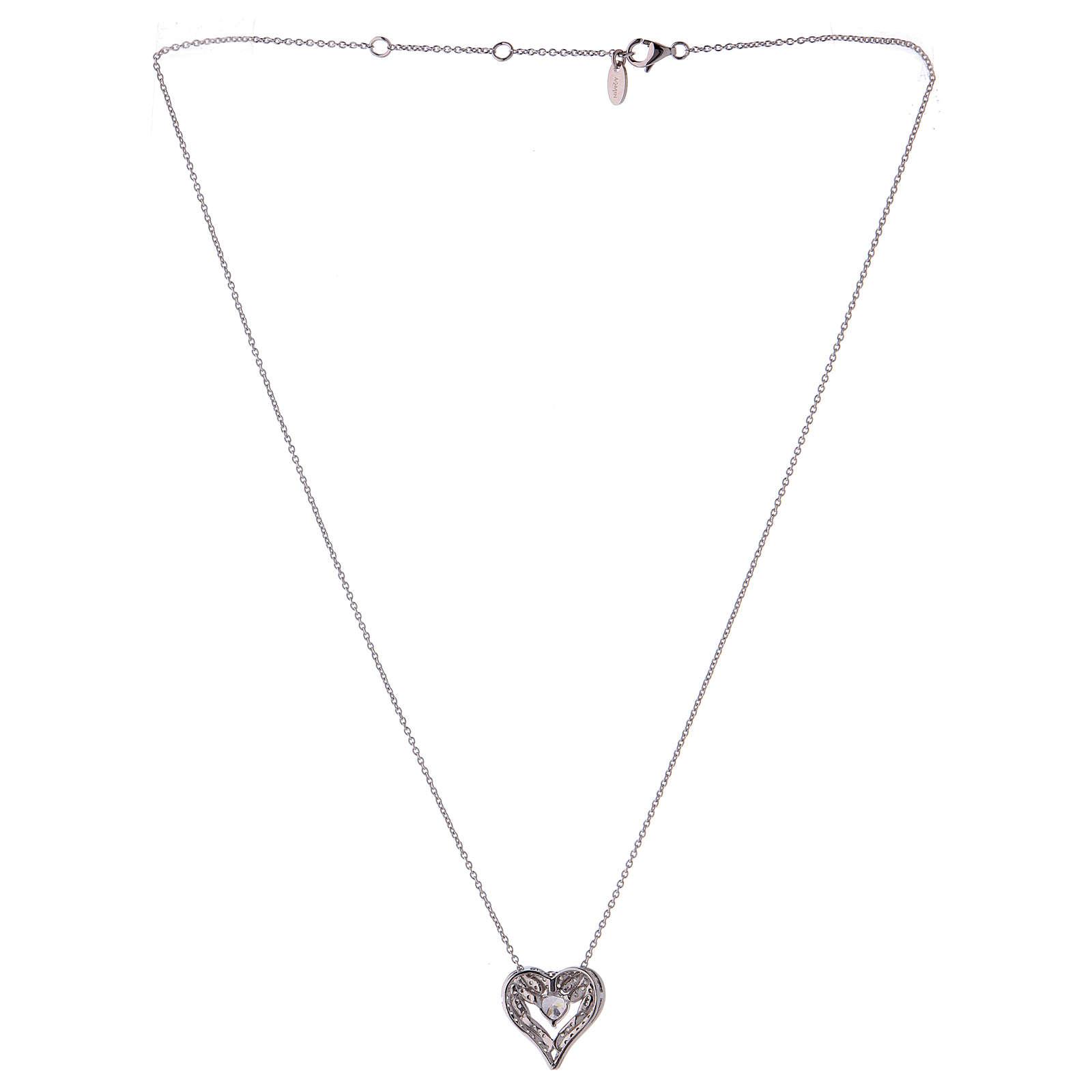 Collana ciondolo ali a forma di cuore argento 925 AMEN 4