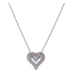 Collana ciondolo ali a forma di cuore argento 925 AMEN s1