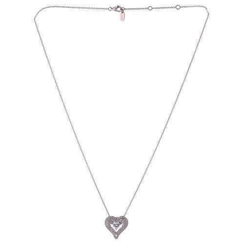 Collana ciondolo ali a forma di cuore argento 925 AMEN 2