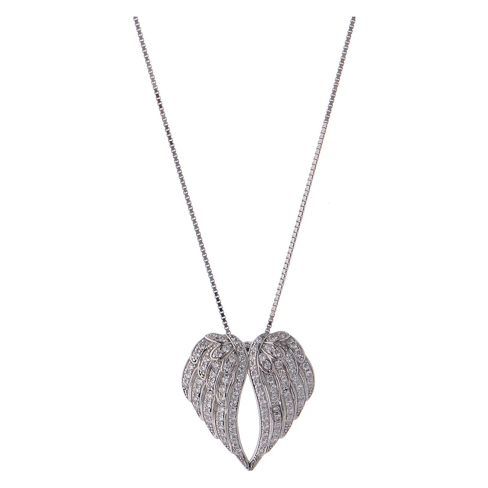 Collar de plata 925 alas con zircones AMEN 4