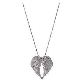 Collar de plata 925 alas con zircones AMEN s1