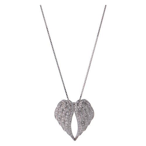 Collar de plata 925 alas con zircones AMEN 1