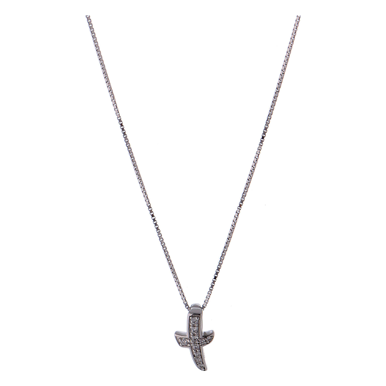 Collar de plata 925 cruz zircones AMEN 4
