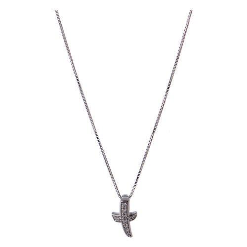 Collar de plata 925 cruz zircones AMEN 1
